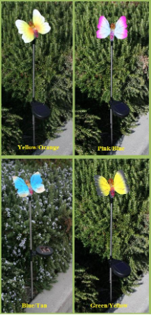 Colorful Butterfly Solar Light - 2 Pack