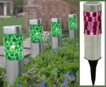 Mosaic Solar Garden Lights - 4 Pack