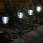Charleston Solar Pathway Lights - Night View