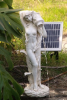 Lady Standing Pond Spitter Solar Waterfall Fountain