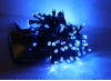 Blue Solar Christmas Lights - 120 LED's