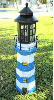Solar Lighthouse Lights - Blue/White