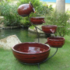 Solar Cascade Water Fountains - Lava Red