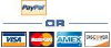 PayPal or Major Credit Card