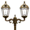 Royal Solar Lamp Post Light with 2 Solar Lights
