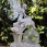 Solar Fairy with crackle ball & calla lilies statue