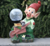 Garden Gnome With Crackled Glass Solar Light