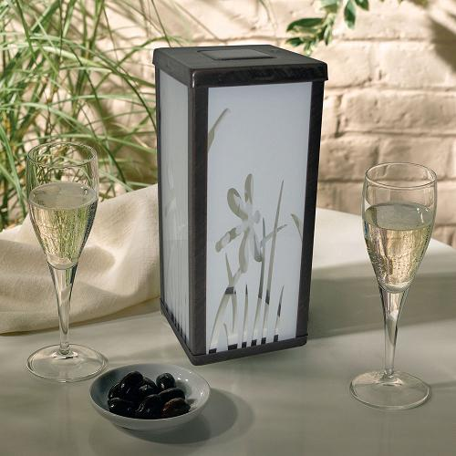 Decorative Frosted Glass Solar Lantern For Table