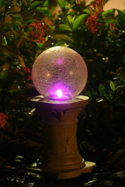 Color Changing Solar Gazing Ball With Stand