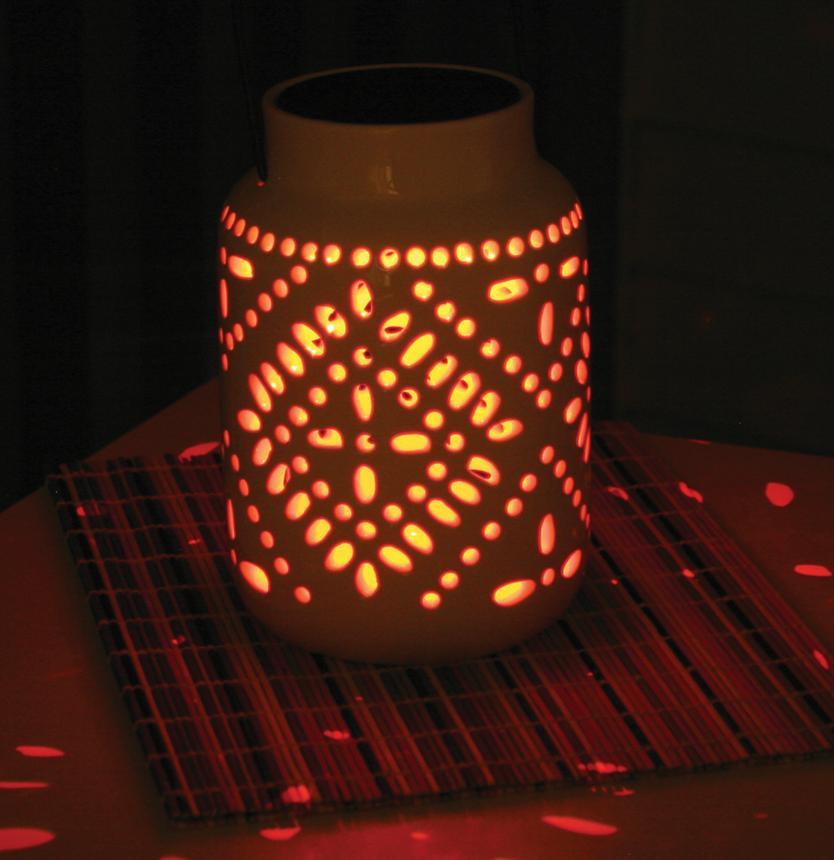 Decrative Tangiers Ceramic Solar Lantern