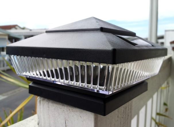 Black Solar Post Cap Lights Solar Deck Lights