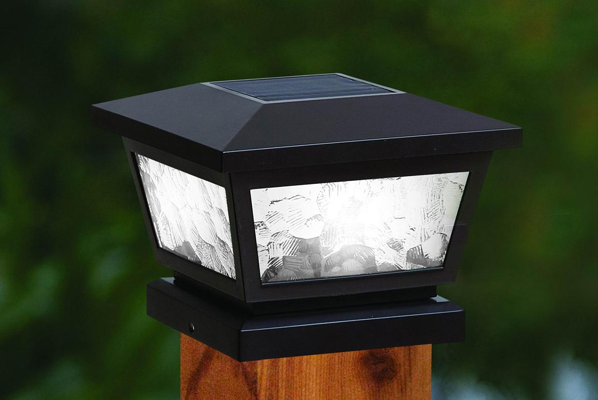 Fairmont solar post cap lights white or black black fairmont solar post cap light aloadofball Image collections