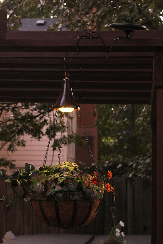 Two Solar Powered Light Kits For Hanging Baskets