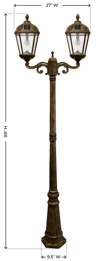 Royal Solar Lamp Post Light Bronze