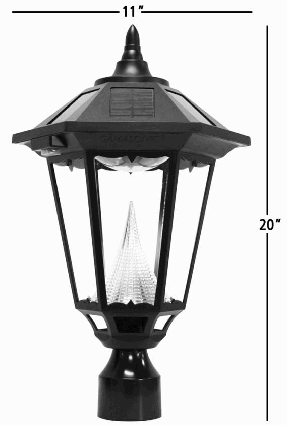 Black Windsor Solar Replacement Lamp Post Light