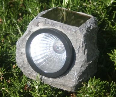 Garden Rocks With Solar Powered Lights
