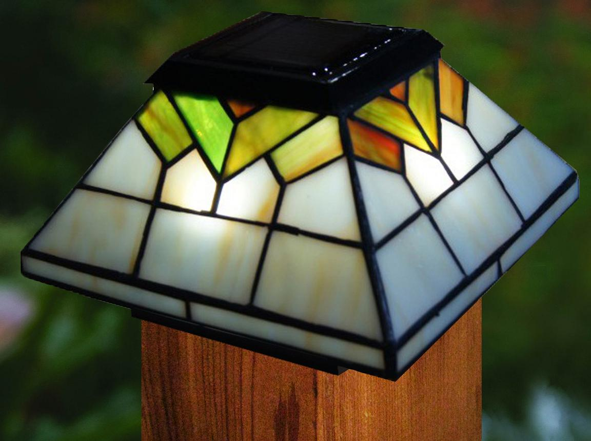 two colorful wellington solar post cap lights. Black Bedroom Furniture Sets. Home Design Ideas