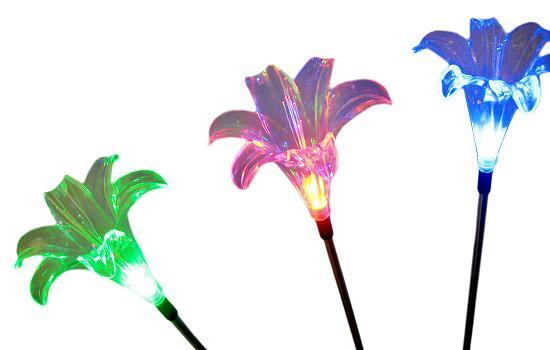 Image Result For Solar Garden Flower Stakes