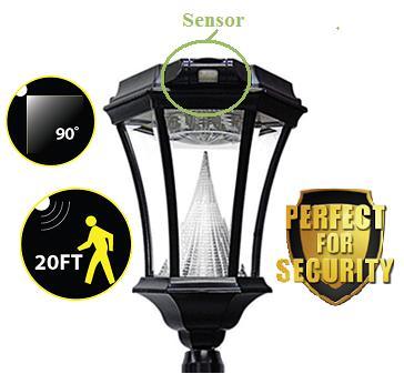 solar lamp post light with motion sensor. Black Bedroom Furniture Sets. Home Design Ideas