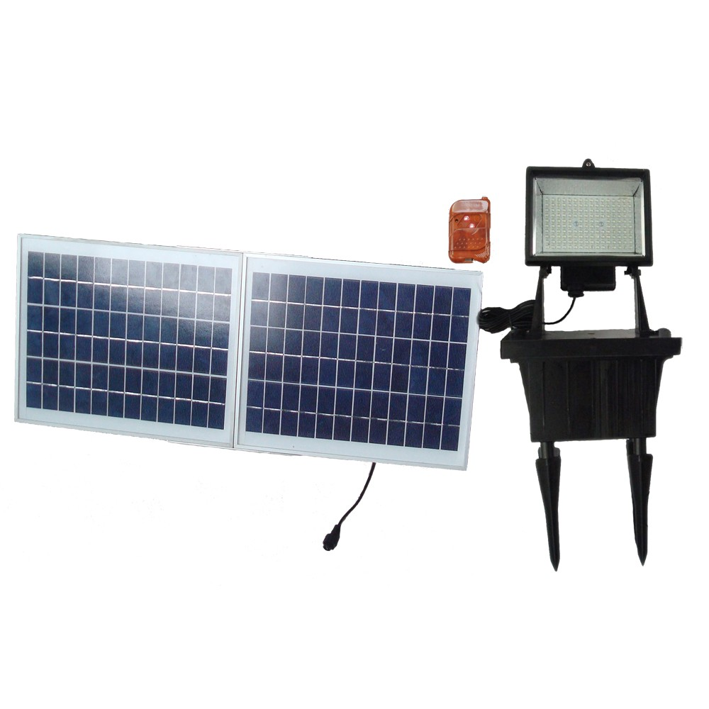 Solar Flood Lights With Remote Control : Remote controled solar powered flood light