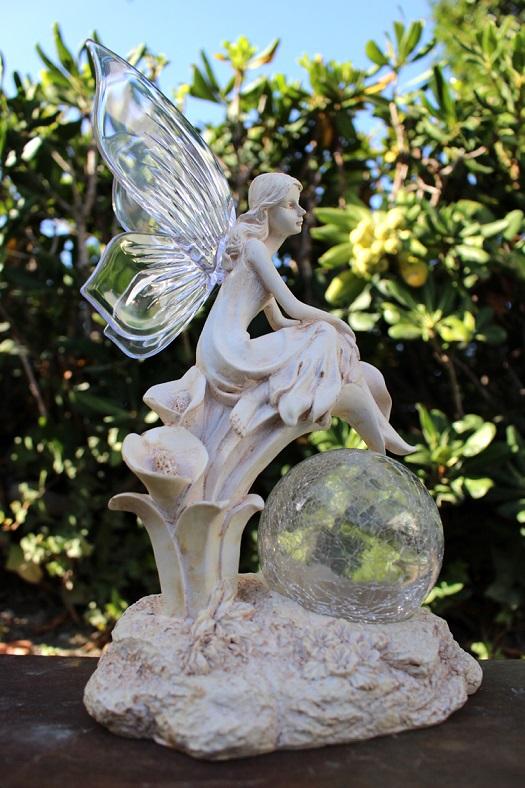 Polyresin Solar Fairy Statue 4 Styles