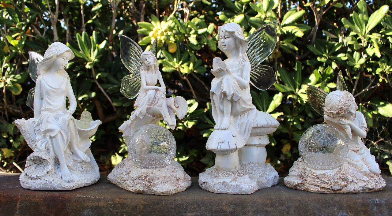 Solar Fairy Light Statue   Four Styles